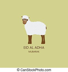 Eid al Adha Mubarak Card vector illustration