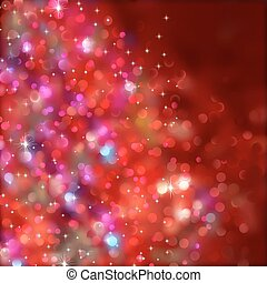 Christmas lights Without a transparency EPS 8 - Red blurry...
