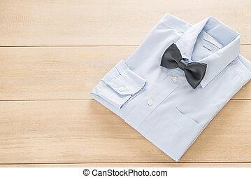 shirt with bow tie - selective fucus point