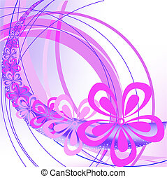 abstract background with arches and flowers