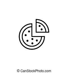 pizza icon on white background