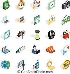 Bauble icons set, isometric style - Bauble icons set....