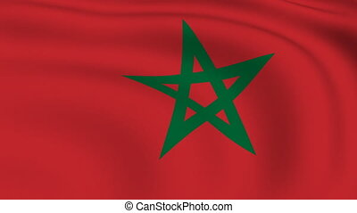 Flying Flag of MOROCCO | LOOPED |