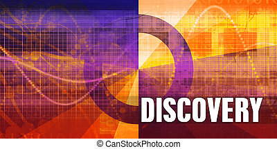 Discovery Focus Concept on a Futuristic Abstract Background