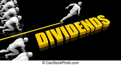 Dividends Leader with a Man Having a Head Start