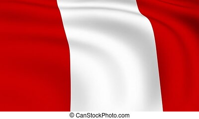 Flying Flag of PERU | LOOPED |