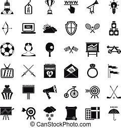 Arrow fly icons set, simple style