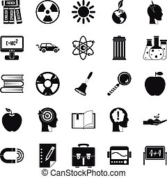 Discoveries icons set, simple style - Discoveries icons set....