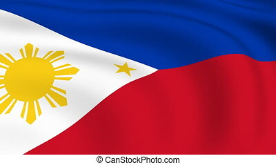 Flying Flag of PHILIPPINES | LOOPED |