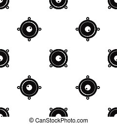Audio speaker pattern seamless black - Audio speaker pattern...