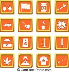 Sinaasappel,  Set,  rastafarian, iconen