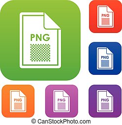 File PNG set collection - File PNG set icon in different...