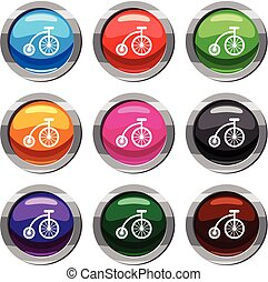 Children bicycle set 9 collection