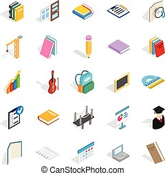 Cognition icons set, isometric style - Cognition icons set....
