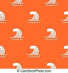 Tsunami wave pattern seamless
