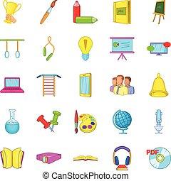 Awareness icons set, cartoon style - Awareness icons set....