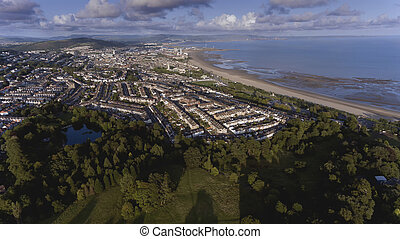 Swansea City South Wales - Swansea City, looking from...