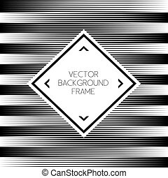 Background striped abstract with frame illustration