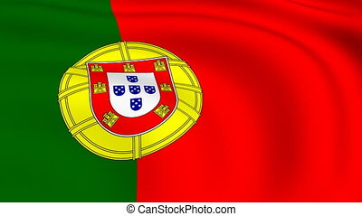 Flying Flag of PORTUGAL | LOOPED |
