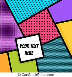 Geometric Pop art advertise background - Cartoon funny...