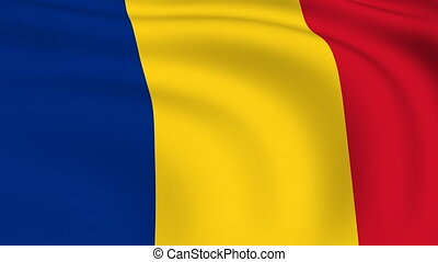 Flying Flag of ROMANIA | LOOPED |