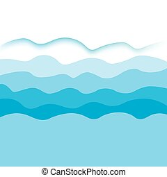 blue sea waves- vector background