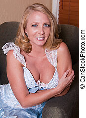 Blonde - Beautiful mature blonde in a Bo-Peep dress