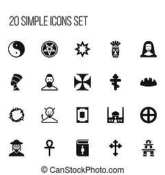 ser, UI, jogo, 20, móvel, ícones, lata, editable, usado,...