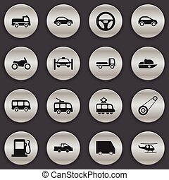 Set Of 16 Editable Shipment Icons. Includes Symbols Such As...