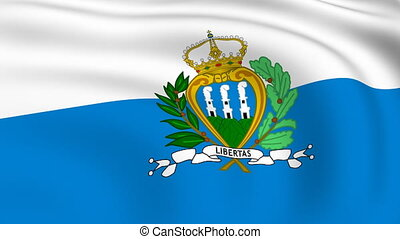 Flying Flag of SAN MARINO | LOOPED |