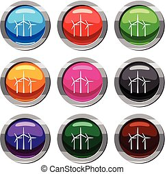 Wind turbines set 9 collection