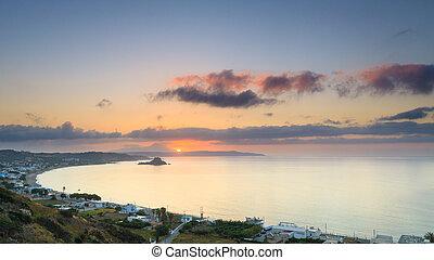 piękny, kefalos, wyspa, zatoka, krajobraz, grecja, Kos,...