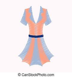 flat shading style icon summer dress