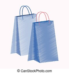 flat shading style icon paper bags