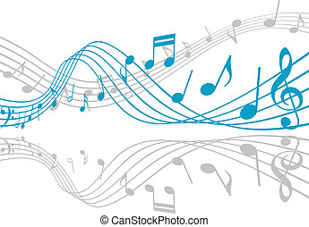 Music background - Notes with music elements as a musical...