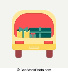 Flat icon of car gifts