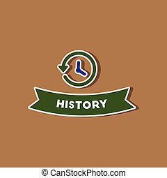 paper sticker on stylish background history lesson - paper...