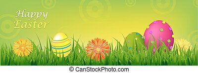 Color Happy Easter Banner