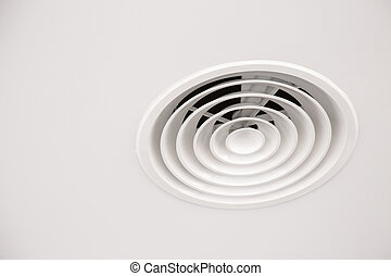 White ceiling Air Duct with dust in the bathroom, Danger for...