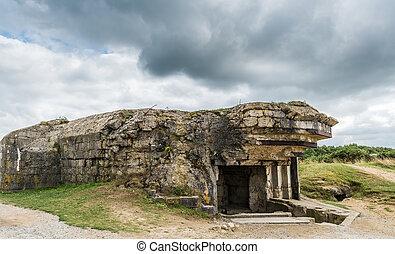 Pointe du Hoc Gun emplacement - Remains of the German...