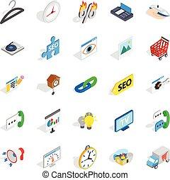 Trifle icons set, isometric style - Trifle icons set....