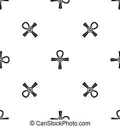 Egypt Ankh symbol pattern seamless black - Egypt Ankh symbol...