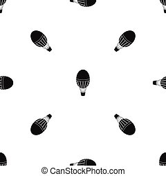 Hot air balloon pattern seamless black
