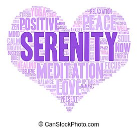 Serenity Word Cloud - Serenity word cloud on a white...