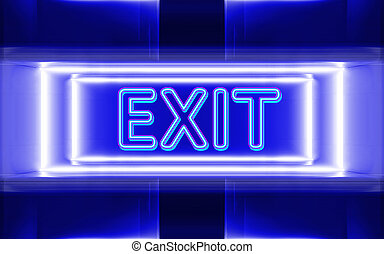 neon sign of exit