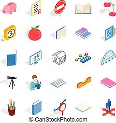 Sciential icons set, isometric style - Sciential icons set....
