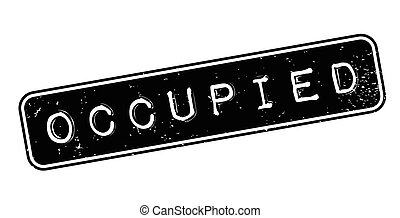 Occupied rubber stamp. Grunge design with dust scratches....