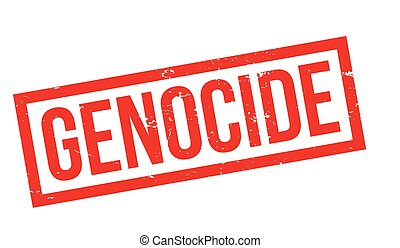 Genocide rubber stamp. Grunge design with dust scratches....