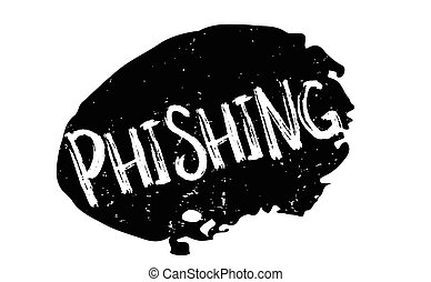 Phishing rubber stamp. Grunge design with dust scratches....