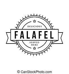 Falafel vintage sign stamp vector